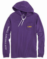 LSU Tigers Long Sleeve Hoodie T-Shirt | Southern Tide