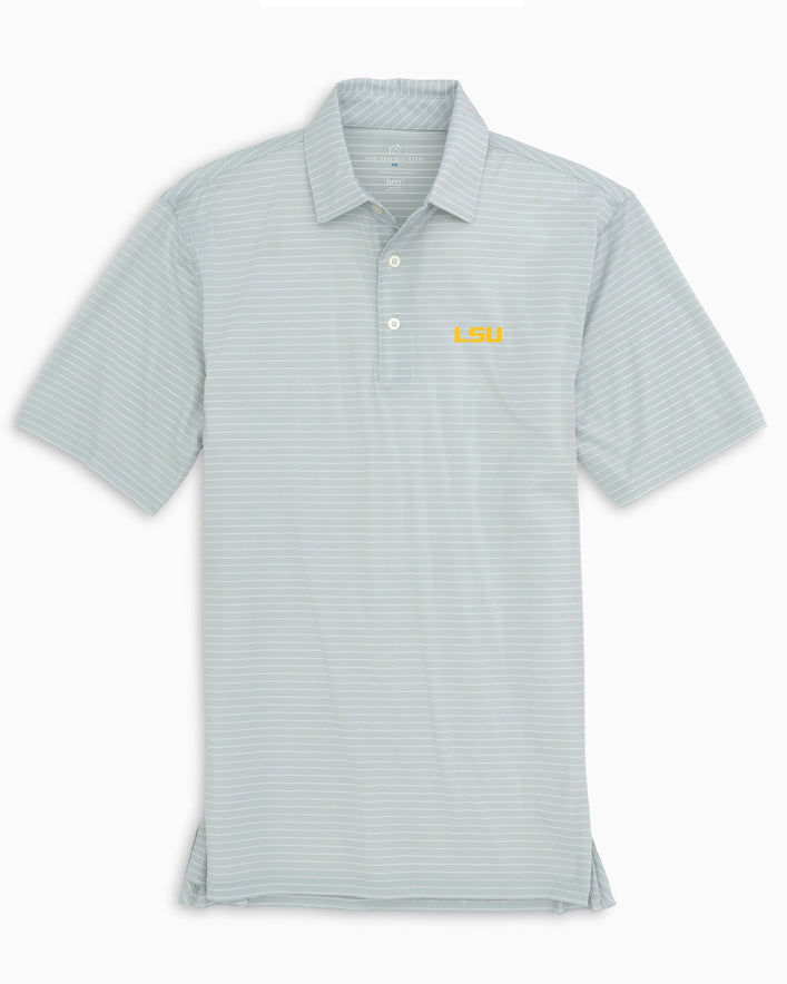 LSU Tigers BRRR® Striped Polo Shirt