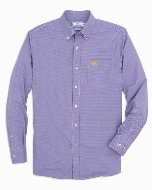 LSU Tigers Gingham Button Down Shirt | Southern Tide
