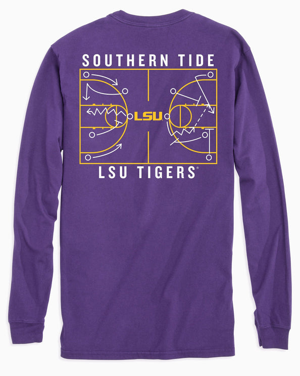 LSU Tigers Long Sleeve Basketball T-Shirt