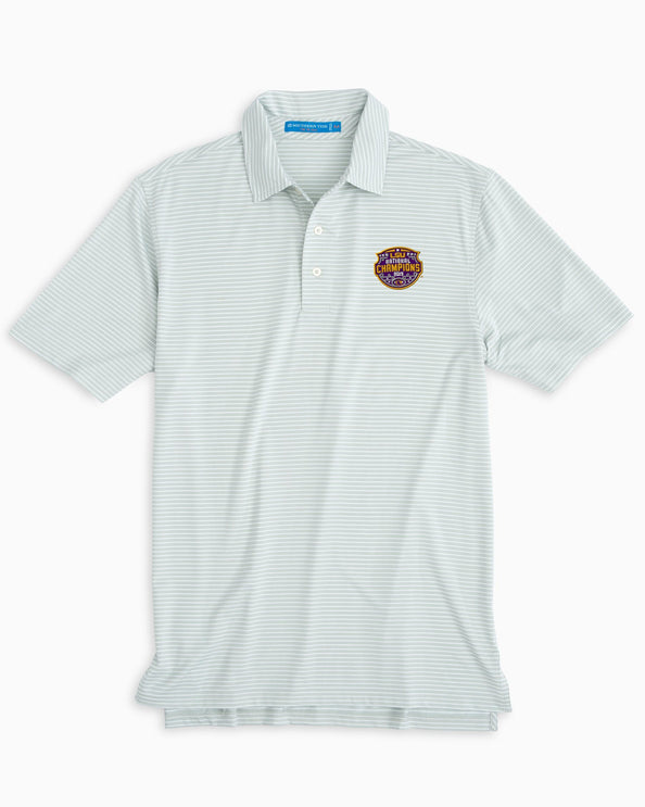 LSU Tigers National Champions Striped Polo Shirt