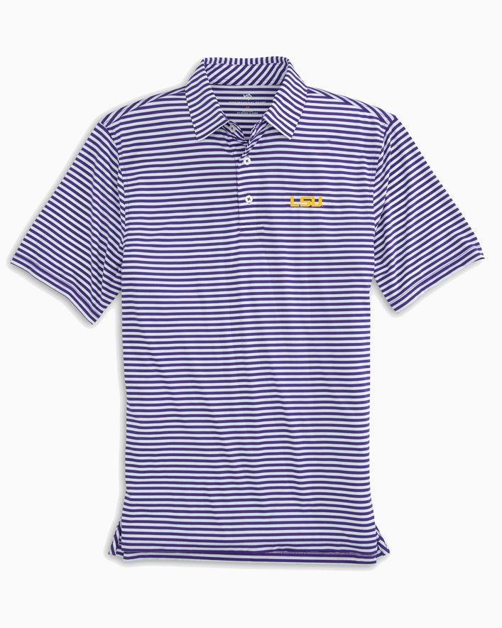 LSU Tigers Striped Polo Shirt