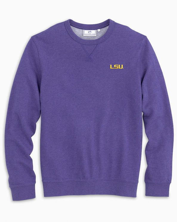 LSU Upper Deck Pullover Sweater