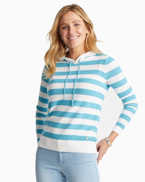 Luis Striped Hooded Pullover Sweater | Southern Tide