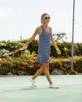 Lyla Performance Active Tank Dress | Southern Tide