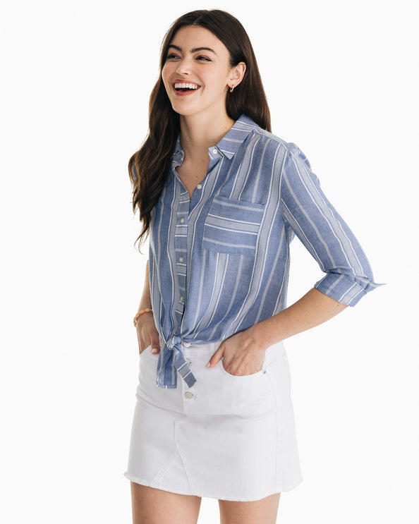 Madelyn Tie Front Button Down Shirt