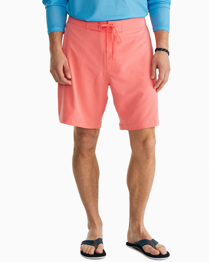 Magic Coral Striped Swim Short