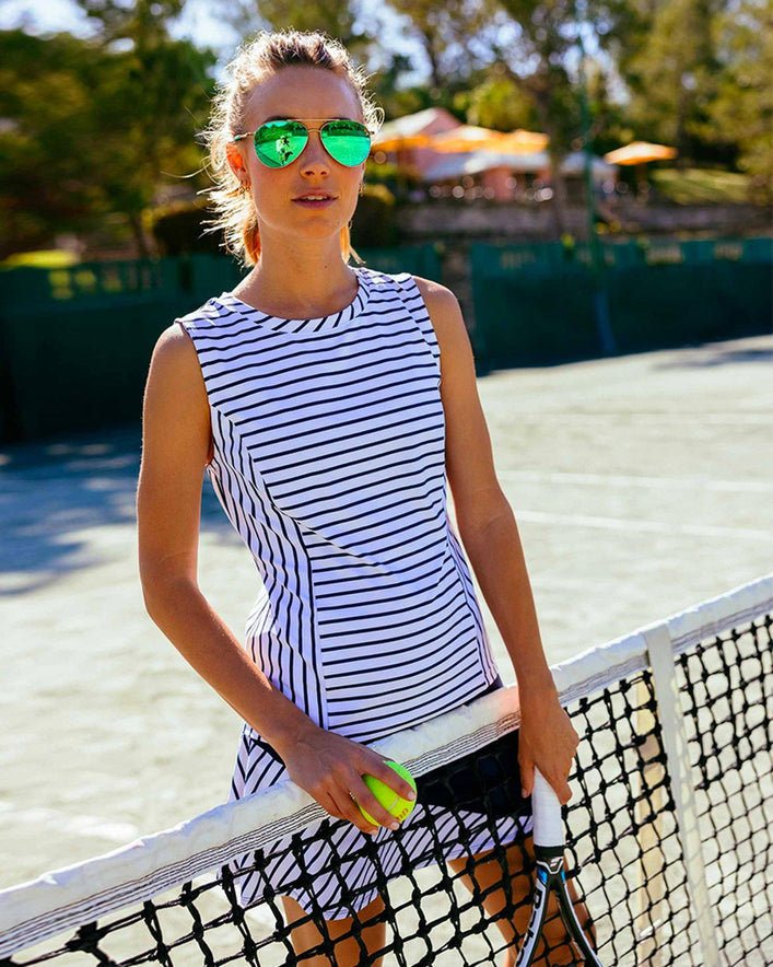 Mali Stripe Performance Knit Tank Top