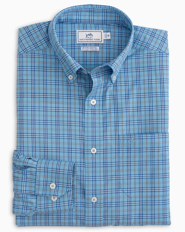 Marina Plaid Intercoastal Performance Sport Shirt
