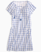 McKenna Lace Up Check Dress | Southern Tide