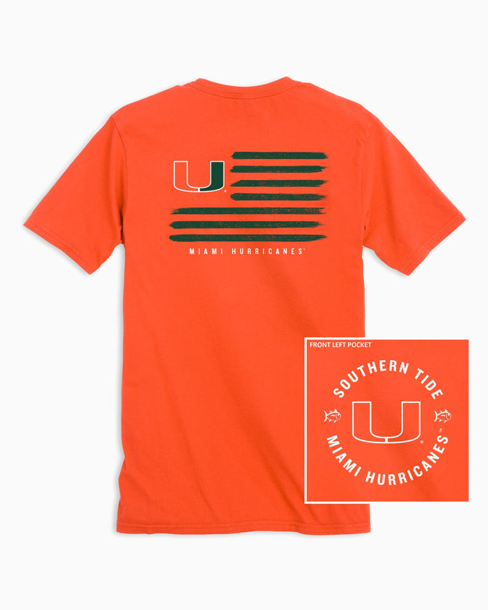 Miami Hurricanes Flag T-Shirt
