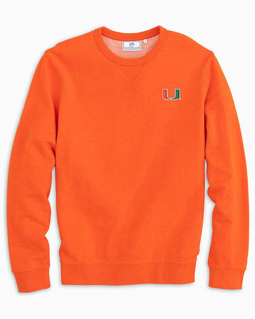 Miami Hurricanes Upper Deck Pullover Sweater | Southern Tide
