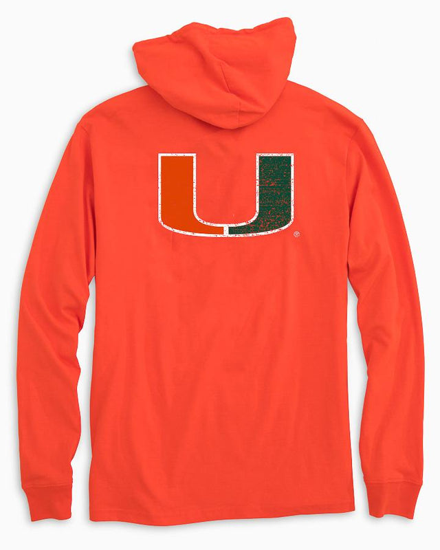 Miami Hurricanes Long Sleeve Hoodie T-Shirt | Southern Tide