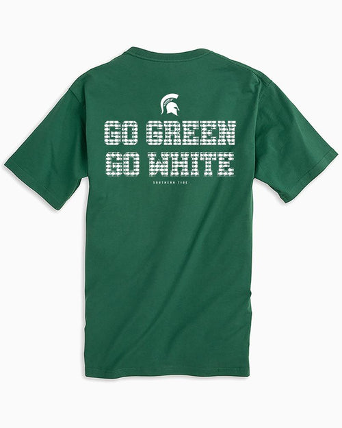 Michigan State Chant Short Sleeve T-Shirt | Southern Tide