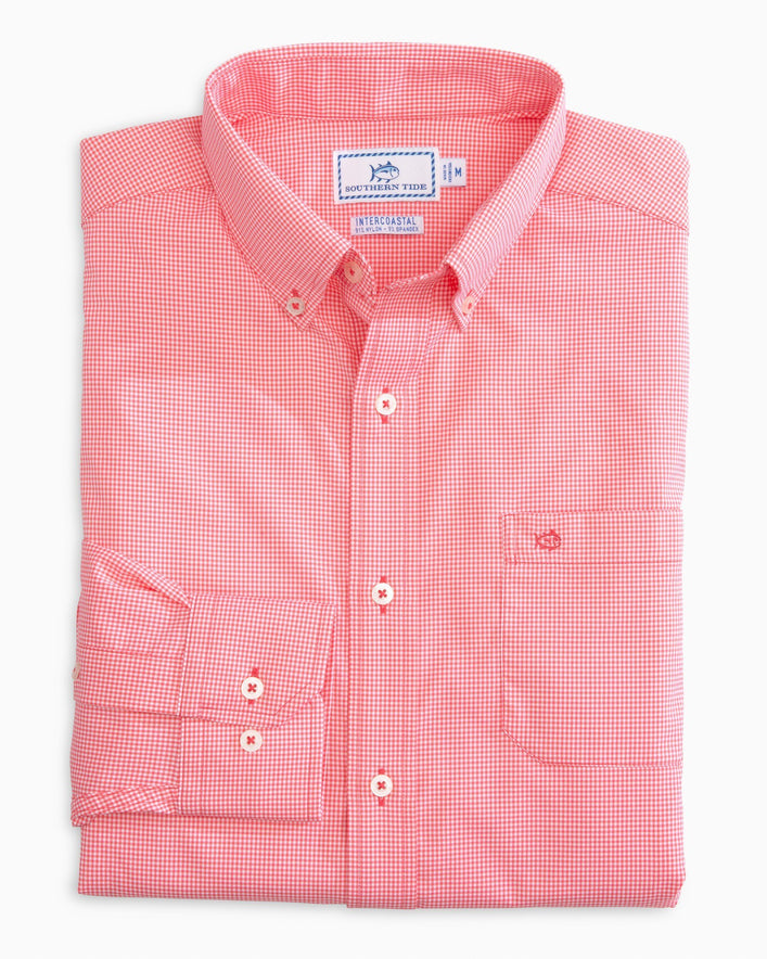 Micro Gingham Intercoastal Performance Sport Shirt
