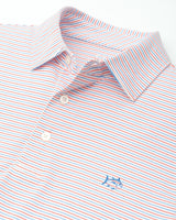 Driver Micro Striped Performance Polo Shirt | Southern Tide