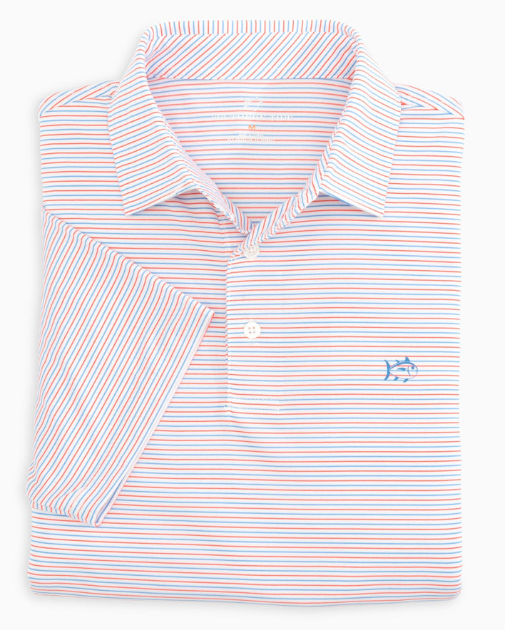 Driver Micro Striped Performance Polo Shirt