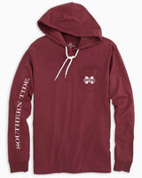 Mississippi State Bulldogs Long Sleeve Hoodie T-Shirt | Southern Tide