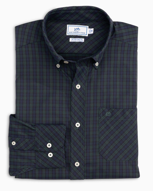 Mistletoe Plaid Intercoastal Performance Sport Shirt