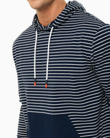 Mixed Media Striped Hoodie | Southern Tide