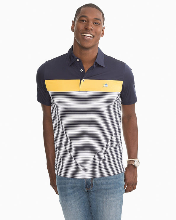 Multi Striped Performance Polo