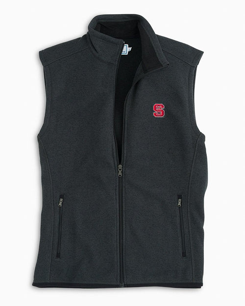 NC State Sweater Fleece Vest | Southern Tide