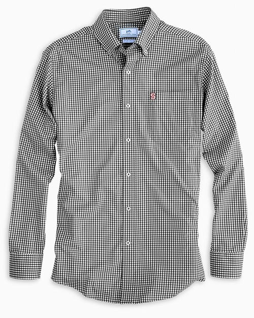 NC State Wolfpack Gingham Button Down Shirt | Southern Tide