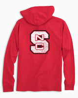 NC State Wolfpack Long Sleeve Hoodie T-Shirt | Southern Tide
