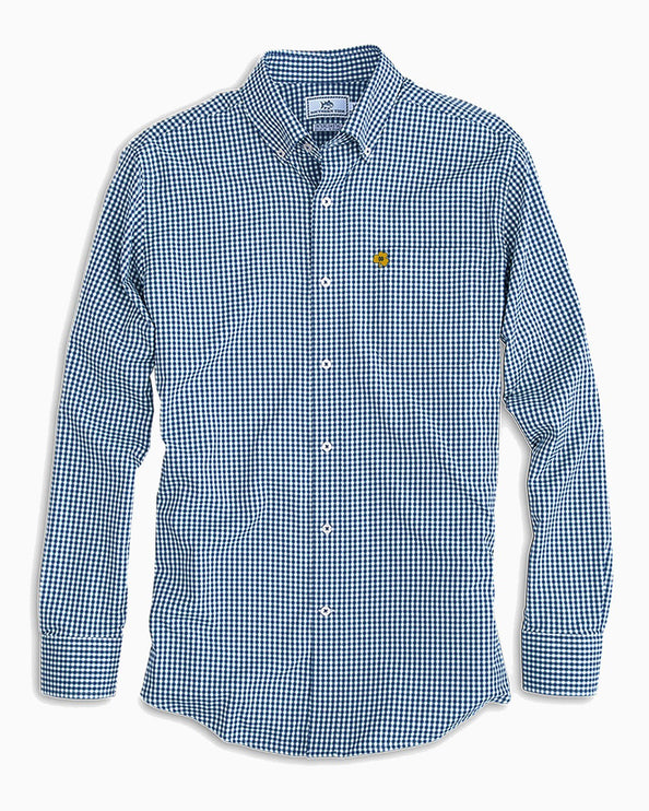 Notre Dame Fighting Irish Clover Gingham Button Down Shirt