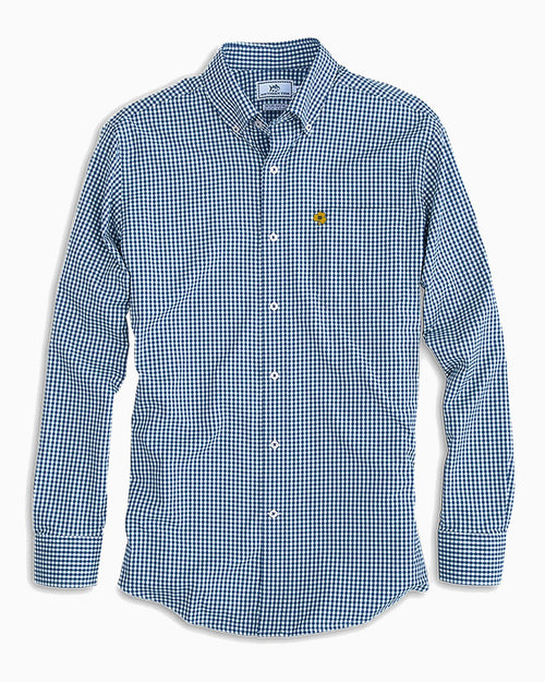 Notre Dame Fighting Irish Clover Gingham Button Down Shirt | Southern Tide