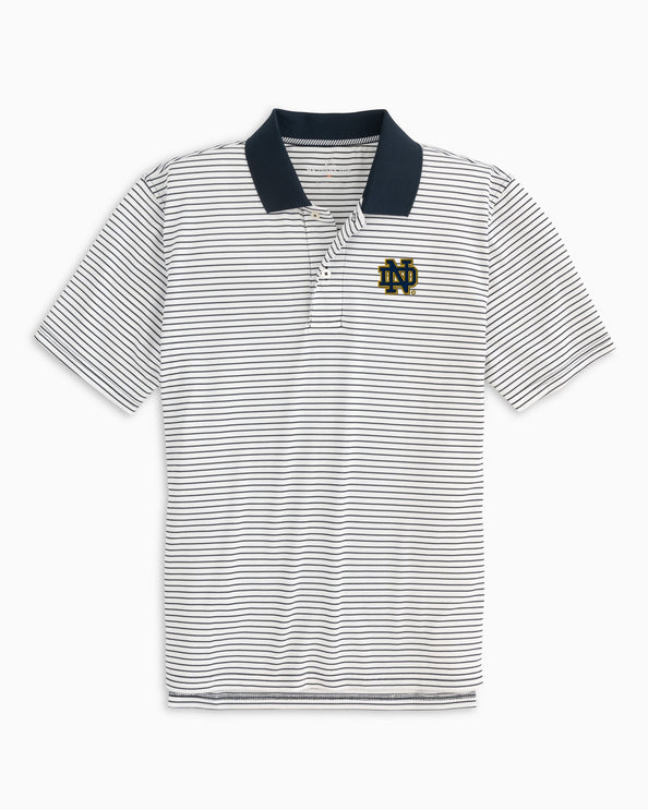 Notre Dame Fighting Irish Pique Striped Polo Shirt