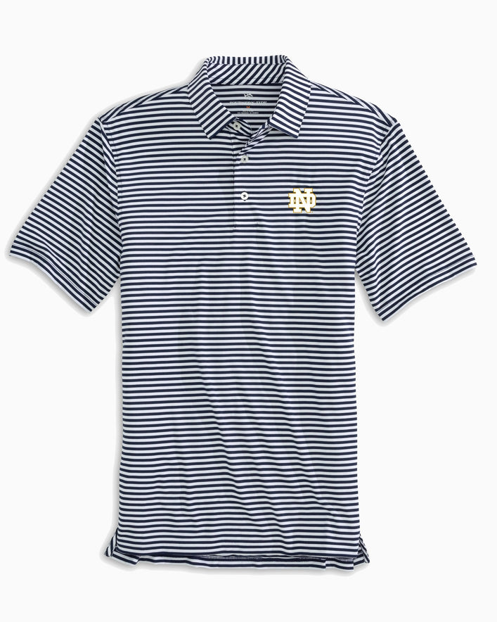 Notre Dame Fighting Irish Striped Polo Shirt