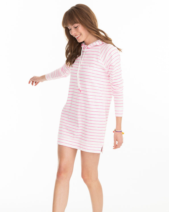 Ocean Front Striped Tunic Hoodie