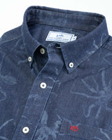 Octopus Print Short Sleeve Button Down Shirt | Southern Tide