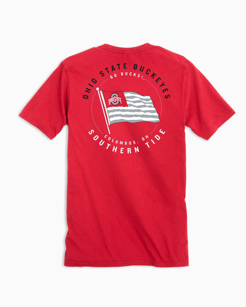 Ohio State Buckeyes American Flag T-Shirt | Southern Tide