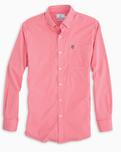 Ohio State Buckeyes Gingham Button Down Shirt | Southern Tide