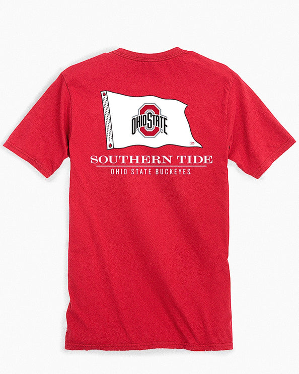 Ohio State Buckeyes Short Sleeve Flag Gameday T-Shirt