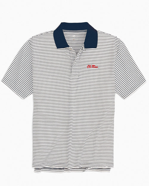Ole Miss Rebels Pique Striped Polo Shirt | Southern Tide