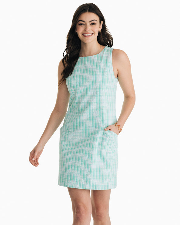 Paislee Seersucker Gingham Shift Dress