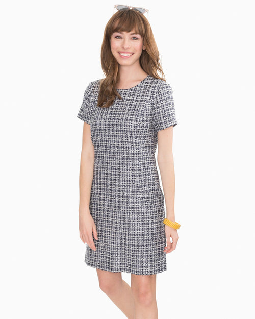 Paislee Tweed Shift Dress | Southern Tide