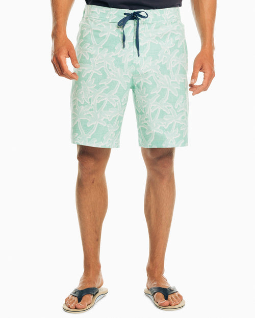 The front view of the Men's Palm Swim Trunk by Southern Tide