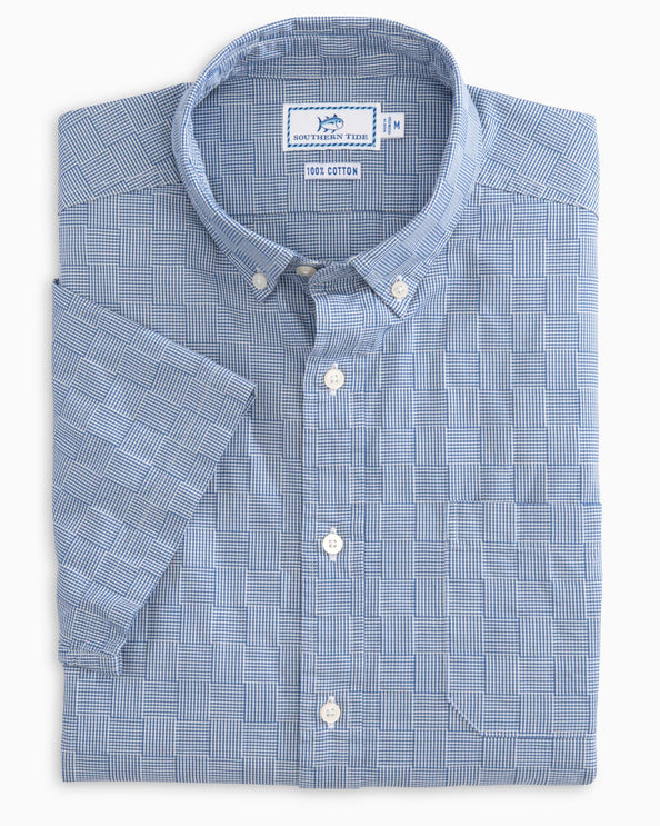 Patchwork Short Sleeve Sport Shirt