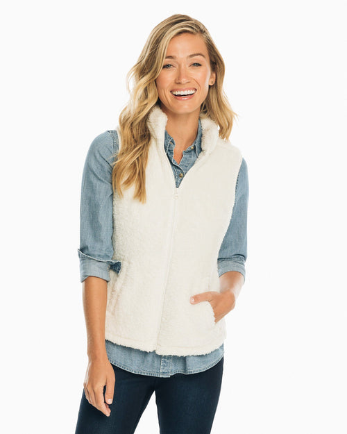Peggy Sherpa Fleece Vest | Southern Tide