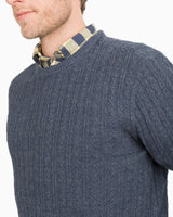 Perry Cable Knit Crewneck Pullover Sweater | Southern Tide