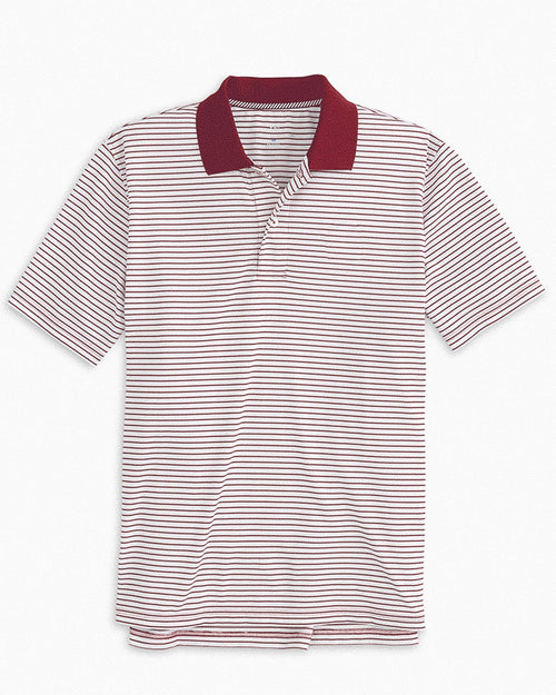 Gameday Pique Striped Polo Shirt | Southern Tide