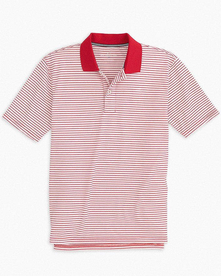 Gameday Pique Striped Polo Shirt