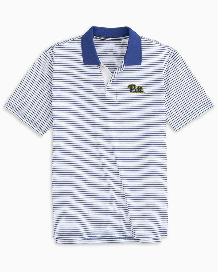 Pittsburgh Panthers Pique Striped Polo Shirt