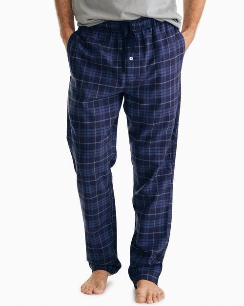 Mainmast Plaid Flannel Lounge Pant | Southern Tide