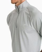 Portola Striped Performance Quarter Zip Pullover | Southern Tide