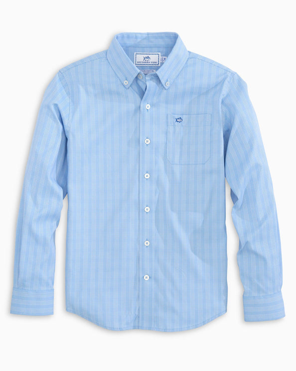 Boys Prince of Wales Intercoastal Button Down Shirt